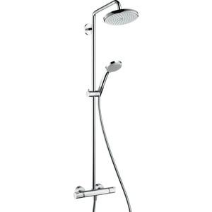 Душевой набор Hansgrohe Croma 220 showerpipe reno с термостатом (27185000) душевой гарнитур hansgrohe croma 100 1jet unica c 27717000