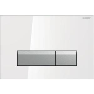 Клавиша смыва Geberit Sigma 40 белое стекло/алюминий (115.600.SI.1) клавиша смыва geberit sigma 50 черный 115 788 dw 5