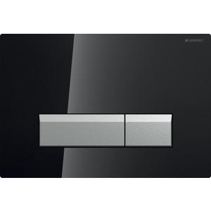 Клавиша смыва Geberit Sigma 40 черное стекло/аллюминий (115.600.SJ.1) клавиша смыва geberit sigma 80 электронная зеркальное стекло 116 090 sm 1