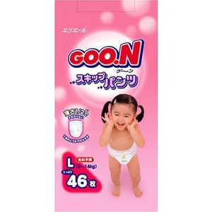 Трусики - подгузники Goon L 9-14кг 46шт для девочек 4902011751390