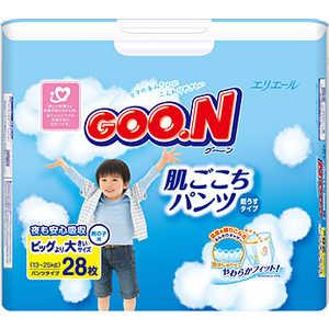 Трусики - подгузники Goon для мальчиков 13-25кг XXL (28шт) 4902011747676 moony трусики ночные для мальчиков 13 25 кг в барнауле