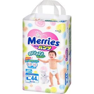 Трусики - подгузники Merries L 9-14кг 44шт 4901301230638