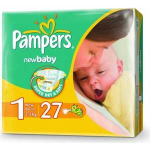 "Подгузники Pampers ""New Baby"" 2-5кг 27шт 4015400264453"