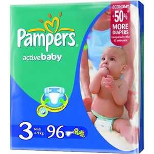 "Подгузники Pampers ""Active Baby"" 4-9кг 96шт 4015400265146"