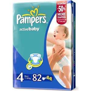 Подгузники Pampers ''Active Baby'' 7-14кг 82шт 4015400265177