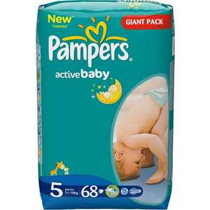 Подгузники Pampers ''Active Baby'' 11-18кг 68шт 4015400264934