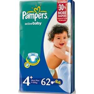 "Подгузники Pampers ""Active Baby"" 9-20кг 62шт 4015400264774"