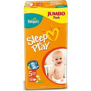 "Подгузники Pampers ""Sleep and Play"" 11-18кг 58шт 4015400203582"