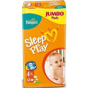 "Подгузники Pampers ""Sleep and Play"" 7-18кг 68шт 4015400203551"