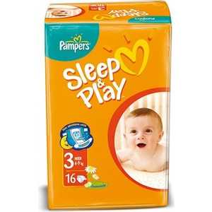 "Подгузники Pampers ""Sleep and Play"" 4-9кг 16шт 4015400122838"