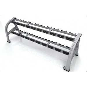 Подставка под гантельный ряд, 10 пар Matrix G1-FW159 стойка для гантелей двусторонняя на 10 пар серия st perfomance ziva zst vx10 5107