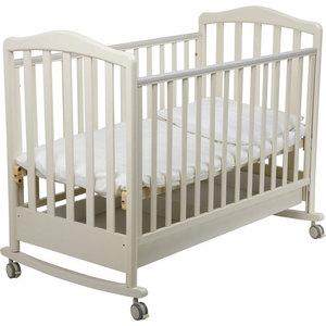 Кроватка Papaloni ``Винни`` 120х60см колеса/качалка (слоновая кость)