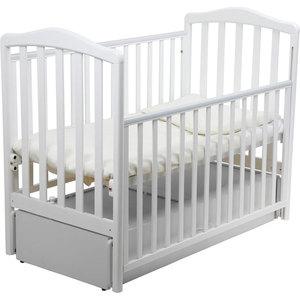 Кроватка Papaloni ``Винни`` 120х60см с маятником (белый)