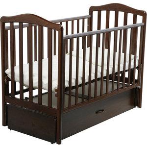 Кроватка Papaloni ``Винни`` 120х60см с маятником (шоколадный орех)