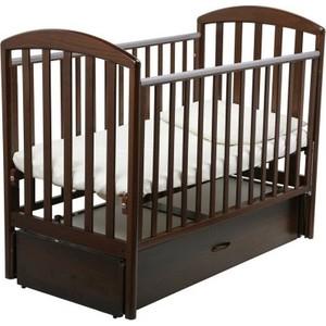 Кроватка Papaloni ''Джованни'' 120х60см с маятником (шоколадный орех)