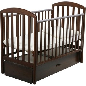 Кроватка Papaloni Джованни 120х60см с маятником (шоколадный орех) кроватка papaloni винни 120х60см с маятником слоновая кость