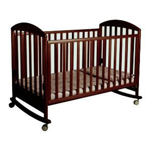 Кроватка Papaloni ''Джованни'' 125х65см колеса/качалка (шоколадный орех) of000000066