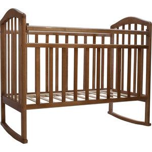 Кроватка Антел ''Алита-2'' колеса/качалка (орех)