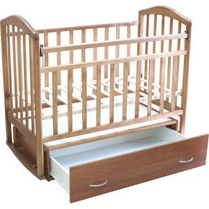 Кроватка Антел ''Алита-4'' маятник/качалка/ящик (орех)