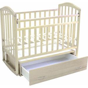 Кроватка Антел ''Алита-4'' маятник/качалка/ящик (слоновая кость)