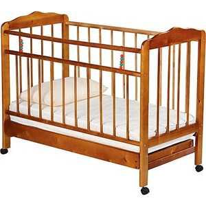 Кроватка Смирнов Женечка 2 колесо/ящик (светлая) обычная кроватка уренская мебельная фабрика мишутка 14 светлая ящик