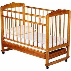 Кроватка Смирнов Женечка 4 колеса/качалка/ящик (светлая) обычная кроватка уренская мебельная фабрика мишутка 14 светлая ящик