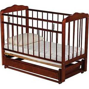 Кроватка Смирнов Женечка 5 поперечный маятник (вишня)
