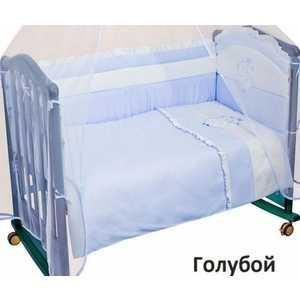 Бампер Сонный Гномик Пушистик (голубой) 110/1 борт в кроватку сонный гномик считалочка бежевый бсс 0358105 4