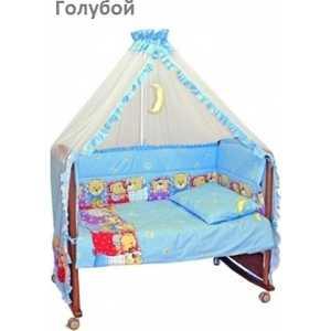 Фотография товара комплект в кроватку Сонный Гномик ''Лежебоки'' 7 предметов (голубой) 715/1 (192908)