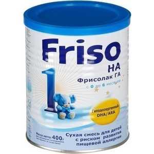 Гипоаллегренная смесь Friso Гиппоалергенная смесь для детей с 6 мес 2 ГА с Frisolak DHA 400 гр 8716200496063