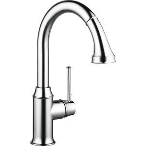 Смеситель для кухни Hansgrohe Talis classic с выдвижным изливом высота 380 мм (14863000) смеситель для кухни kludi l ine с выдвижным изливом 428210577