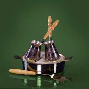 Турецкий набор для приготовления кофе Станица ''Тет-а-тет'' 0.18 л КО-26003