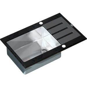 Мойка кухонная ZorG inox-glass 780x510 (gl-7851-black) кухонная мойка ukinox fap 510 gt 8