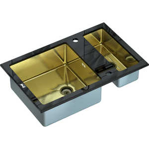 Кухонная мойка ZorG inox-glass 800x510 (gl-8051-2-black-bronze)