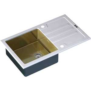 Мойка кухонная ZorG inox-glass 780x510 (gl-7851-white-bronze)
