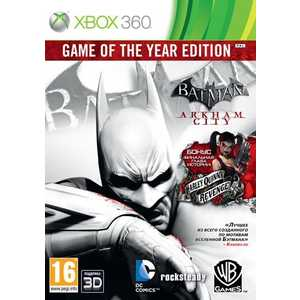 Игра для Xbox 360  Batman: Arkham City Game of the Year Edition (Xbox 360, русские субтитры)