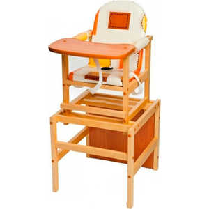 Стол-стул для кормления ПМДК Октябренок (капучино/светлый дуб/бук) стул трансформер для кормления октябренок ромашки желтый дуб