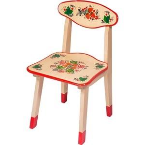 Стул Хохлома с художественной росписью (ягода/цветок) 7398 столы и стулья хохлома стул детский с художественной росписью из массива