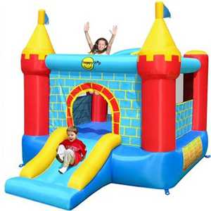 "Надувной батут Happy Hop ""Castle Bouncer with Slide"" 9312"