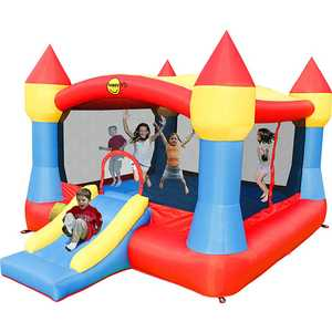 "Надувной батут Happy Hop ""Super Castle Bouncer with Slide"" 9217N"