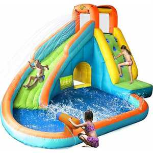 "Надувной батут Happy Hop ""Water Slide With Pool and Cannon"" 9117N"
