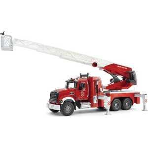 Bruder Пожарная машина MACK с выдвижной лестницей и помпой, с модулем, со световыми и звуковыми эффектами 02-821 машина пламенный мотор дорожные работы со световыми и звуковыми эффектами