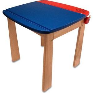 Стол I'm toy с контейнером для ручек (голубой/красный/полоса) 42023