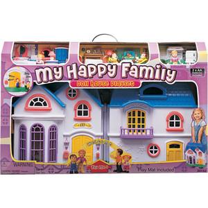 Keenway Набор: My Happy Family дом с предметами, сборный, музыкальный 20132 keenway keenway игровой набор дом моей мечты