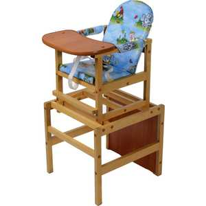 Стол-стул для кормления ПМДК Октябренок (лужок/светлый дуб/бук) стул трансформер для кормления октябренок ромашки зеленый