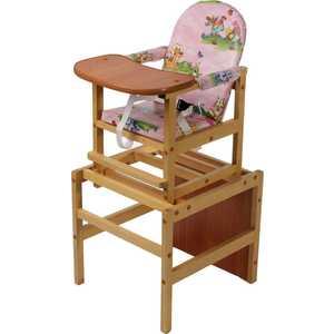 Стол-стул для кормления ПМДК Октябренок (полянка/светлый дуб/бук) стул трансформер для кормления октябренок ромашки желтый дуб