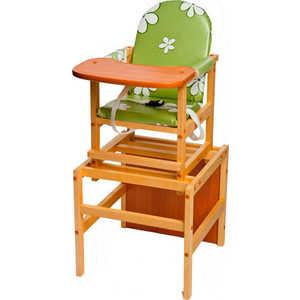Стол-стул для кормления ПМДК ''Октябренок'' (ромашки/зеленый/светлый дуб/бук)