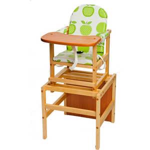 Стол-стул для кормления ПМДК Октябренок (яблоко/светлый дуб/бук) стул трансформер для кормления октябренок ромашки желтый дуб