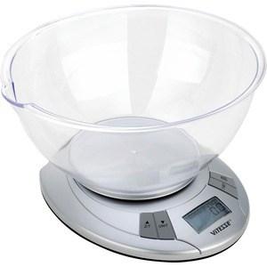 Кухонные весы Vitesse VS-609 чаша горошек 2 л бел син 1150426