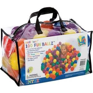 Мячи Intex 6.5см 100шт для игровых центров 49602 цена